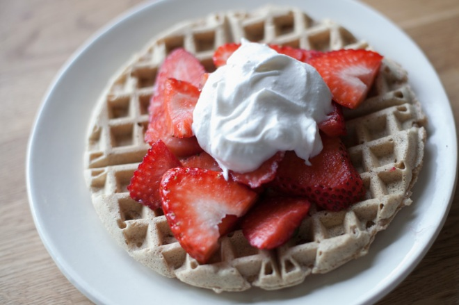dairy free waffle recipe on Permanent Riot