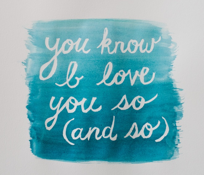 Ombre watercolor quote tutorial - Permanent Riot