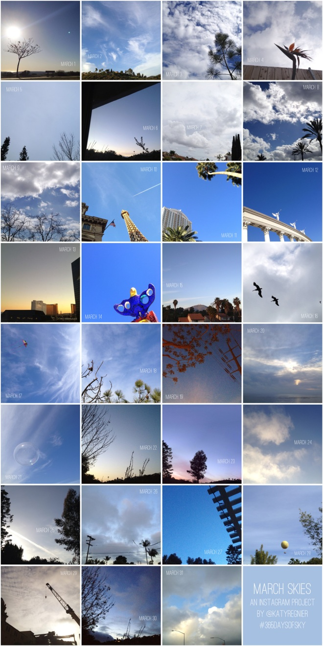 #365daysofsky - an instagram project 365 on Permanent Riot by Katy Regnier photography