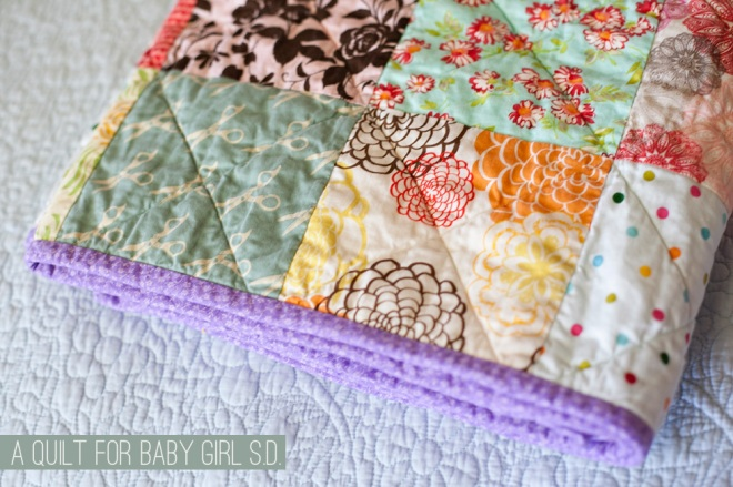 A quilt for baby S.D. - quilting projects on Permanent Riot