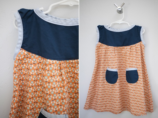 Coordinating little girls dresses - sewing projects at Permanent Riot