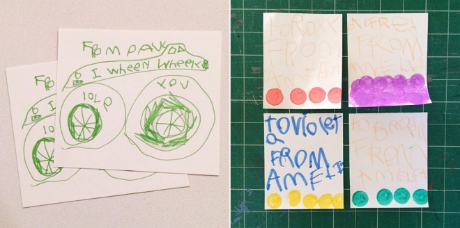 Handmade kids valentines on Permanent Riot