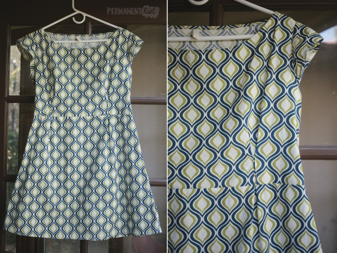 DIY sewing - copy of ready to wear dress on Permanent Riot