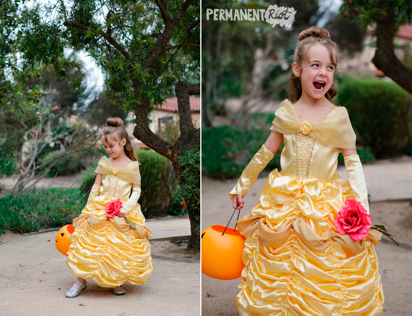 Childrens Belle dress halloween costume ...  sc 1 st  Permanent Riot & sewing u2013 Permanent Riot