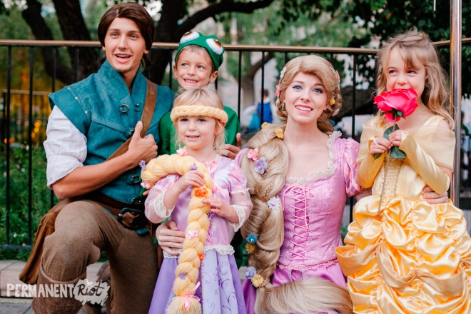 Rapunzel Belle and Pascal halloween costumes