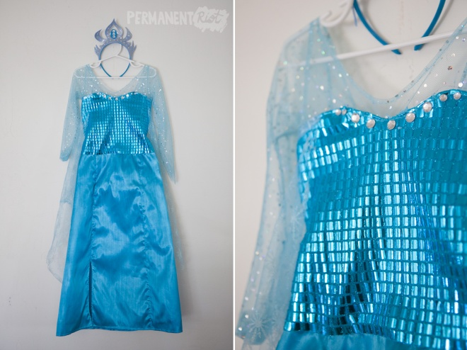 Elsa Frozen girls halloween costume